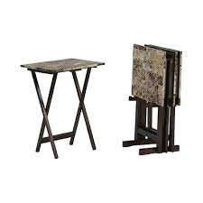 Folding Tray Table Set Folding Tv Trays With Stand Anthem Folding Tray Table With Stand