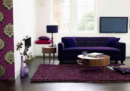 more comfortable at home with a luxurious comfortable purple sofa