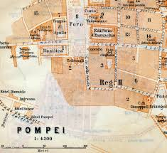 Italy City Map by 1912 Vintage Map Of Pompeii Italy Vintage City Map Old