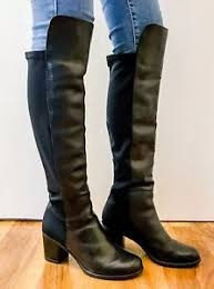 s heeled boots uk dune leather knee high length heel boots uk 7 ebay
