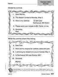 commas in friendly letters lesson plans u0026 worksheets