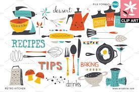retro martini clip art retro kitchen clip art png illustrations creative market