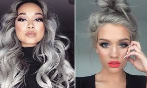 gray hair color trend 2015 women are choosing to dye their hair grey for the granny hair