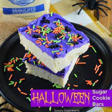 Decorated Halloween Sugar Cookies by Halloween Sugar Cookie Bars Savory Experiments
