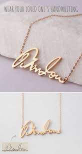 custom handwriting necklace 47 best handwriting necklace images on