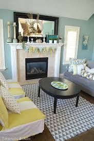 grey and yellow living room at tatertots and jello christmas
