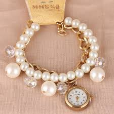 Watches For Jewelry Making Beautiful Pearl Handmade Bracelet Watch For Women Dress Watches