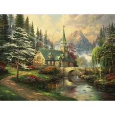 the garden of payer 36 x 36 framed canvas wall murals the select options dogwood chapel limited edition art
