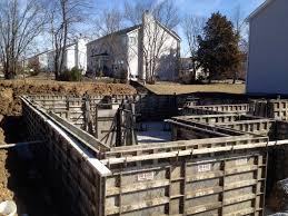 placing the basement foundation forms building dreams