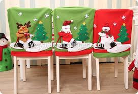 santa chair covers cheap kitchen dining room chair back cover santa snowman reindeer