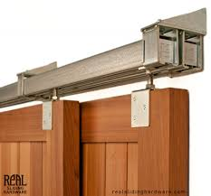 Exterior Sliding Door Hardware Heavy Duty Industrial Bypass Box Rail Barn Door Hardware 600 Lb
