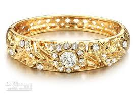 gold wedding bracelet images 18k gold wedding jewelry bride bracelet hollow diamond charm gold jpg