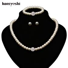 wedding jewellery sets aliexpress buy pearl jewelry sets fashion imitation