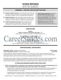 Teaching Resume Template Free Special Ed Teaching Resume Exle Elementary Resume