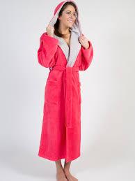 robe de chambre longue en molleton avec capuchon lilianne