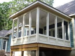 decor enclosed porch plans screened in porch designs
