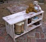 Wood Shelf Storage Shoe Bench Entryway Hall by honeystreasures