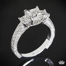 princess cut engagement ring 3 coeur de clara engagement ring for princess