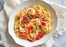 pasta pomodoro with shrimp recipe simplyrecipes com
