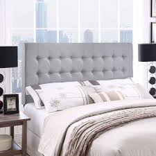 Fabric For Upholstered Headboard by Modway Tinble Queen Tufted Upholstered Headboard In Gray Walmart Com
