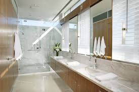 Mirror That Looks Like Window by Luxury Modern Bathroom With Unique Unframed Mirror Featuring