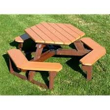 Exteriors Recycled Plastic Picnic Tables Cedar Hexagon Picnic by Outdoor Eagle One Octagon All Greenwood Recycled Plastic Picnic