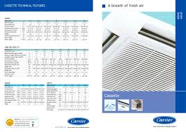 Wall Mounted Indoor Ac Unit Cassette Carrier Pdf Catalogues Documentation Brochures