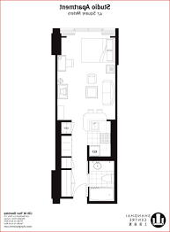 One Room Apartment Floor Plans by Home Design One Bedroom Apartment Blueprints Architect Cad