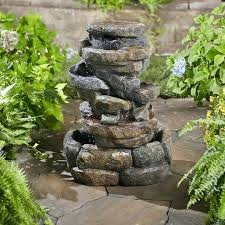 Rock Fountains For Garden Garden Treasures Rock Outdoor Fountains Design Of Water