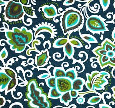 Outdoor Fabric Indoor Outdoor Fabric Navy Blue Green U0026 Turquoise Fabric By The
