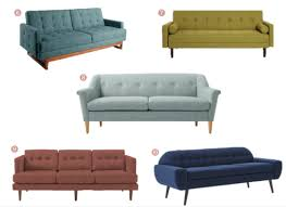 colorful mid century couches under 1000 annabode co
