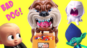 trolls movie poppy branch boss baby play the bad dog game for toy