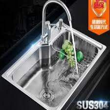 Kitchen Sink Basin by 304 Stainless Steel Kitchen Sink Single Tank Thick Vegetable