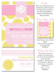 party box design pink lemonade stand birthday party