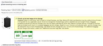 united airlines baggage allowance united airlines guts baggage allowance for star gold running with
