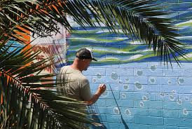 themed artwork dominguez paints the carlsbad wall