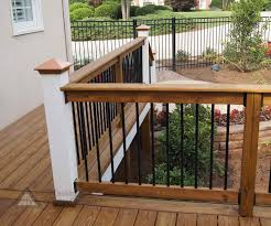 metal deck railings including home organization black modern iron
