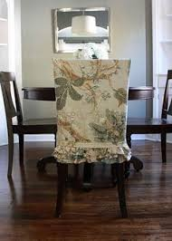 Slipcovered Parsons Dining Chairs Shabby Chic Parson S Chair Slipcover With Interchangeable Buttons