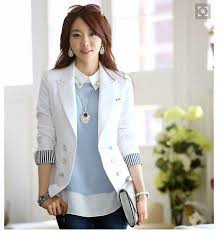 blazer wanita muslimah modern model baju blazer single breasted fashion modern 2018