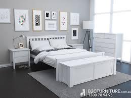 Dandenong Queen Bed Frame White Modern BC Furniture - Bedroom furniture in melbourne