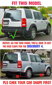 front u0026 rear fit for land rover discovery 3 04 08 lr3 mud flaps