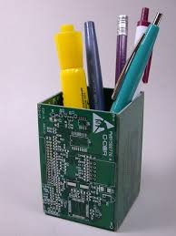 pencil holder for desk old circuit boards become office products and household