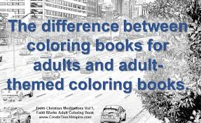 the difference between and themed coloring books