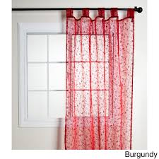 nice red sheer curtains