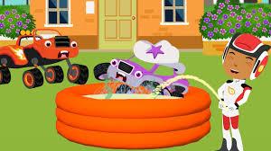 ᴴᴰ blaze car monster machines pisses swimming pool