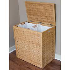 oversized divided laundry hamper u2014 sierra laundry wicker divided