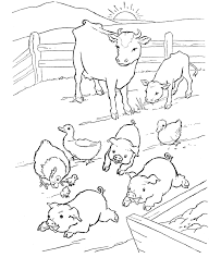 farm animal coloring pages coloring