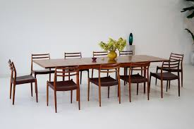 Teak Dining Table  Chairs Set S For Sale At Pamono - Teak dining room