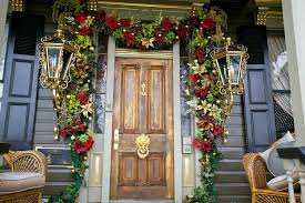 exterior fancy flowers garland decorating ideas