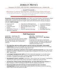 bartender resume templates bartender resume sle